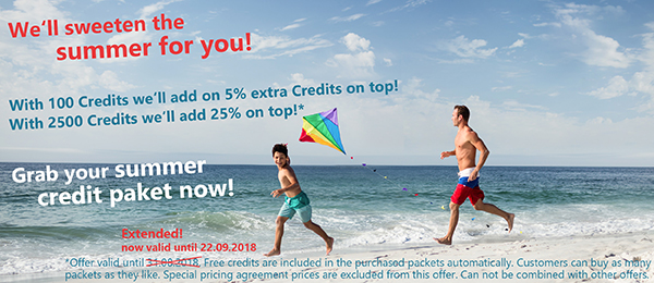 Grab your summer credit paket now!