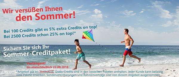 Sichern Sie sich jetzt Ihr Sommer-Creditpaket!