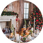 Leuchtkasten Weihnachtsessen