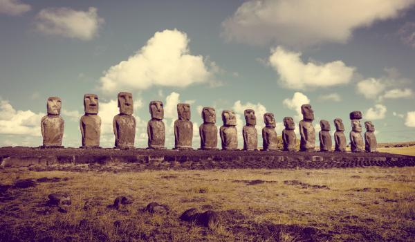 Die berühmten Skulpturen der Osterinsel
