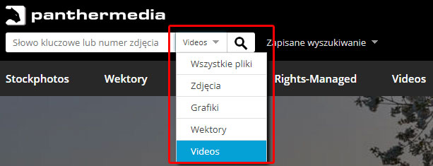 You can also select the media type